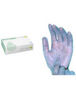 Luvas em Polymer azul, sem pó